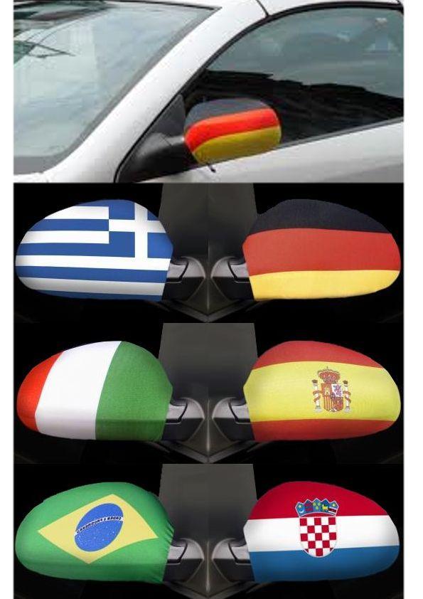1paar l nder flagge auto spiegel berzug au en spiegel for Spiegel und fahne